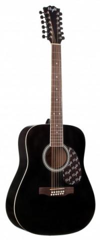 12-ти струнная акустическая гитара FLIGHT W 12701/12 BK