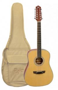 12-ти струнная гитара FLIGHT D-200/12 + Чехол