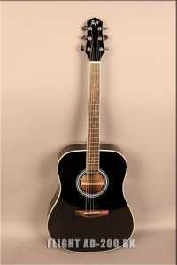 Акустическая гитара FLIGHT AD-200 BK