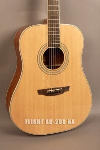 Акустическая гитара FLIGHT AD-200 NA