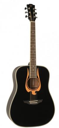 Акустическая гитара FLIGHT WD-5 EAGLE BK Black Mat