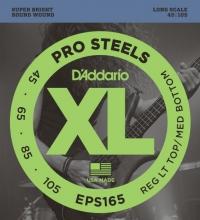 Струны для 4-х струнной бас гитары D'ADDARIO EPS165 Regular Light Top / Medium Bottom