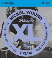 Струны для электрогитары D'ADDARIO EXL116 Medium Top / Heavy Bottom