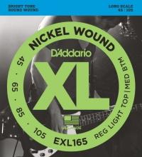 Струны для 4-х струнной бас гитары D'ADDARIO EXL165 Regular Light Top / Medium bottom