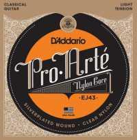 Струны для классической гитары  D'ADDARIO EJ43 Light