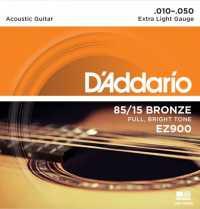 Струны для акустической гитары D'ADDARIO EZ900 Extra Light