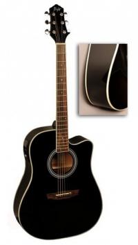 Электроакустическая гитара FLIGHT AD-200 CEQ BK