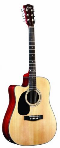 Электроакустическая леворукая гитара FLIGHT GD-802CEQ LH NA