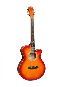 Фолк гитара с вырезом FLIGHT F 130 CS цвет Cherry Sunberst