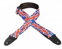 Ремень для гитары LEVY'S MP-29 рисунок Английский флаг