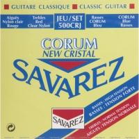 Струны для классической гитары SAVAREZ 500 CRJ Cristal Corum Red/Blue