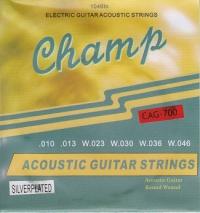 Струны серебрянные для акустической гитары CHAMP CAG-700
