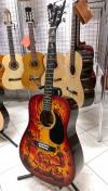 Роспись акустической гитары цвета санбёст